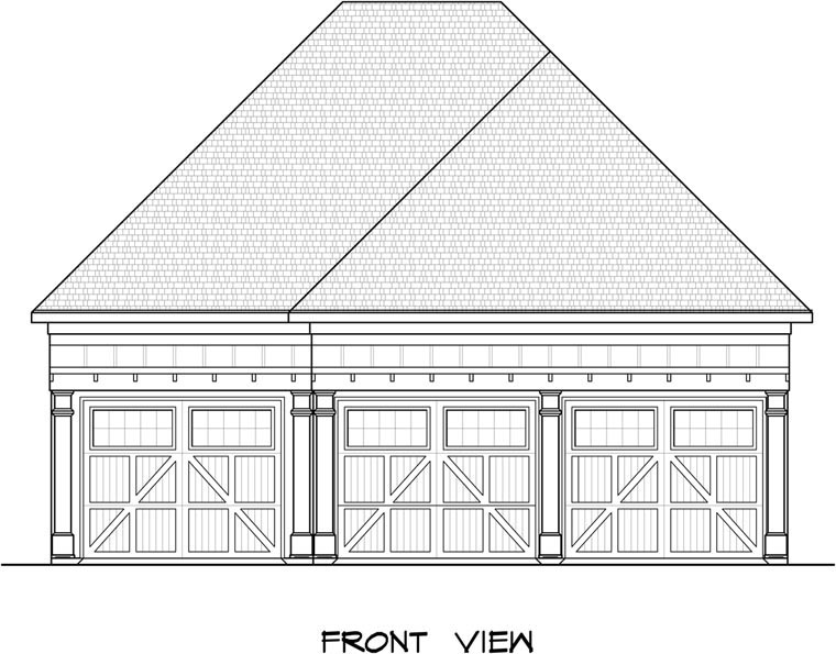 Garage Plan 58247 Elevation