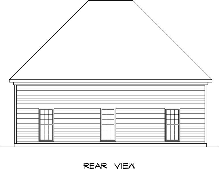 Garage Plan 58247 Rear Elevation