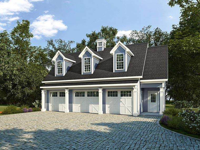 Garage plan 58248 at for 5 car garage with apartment