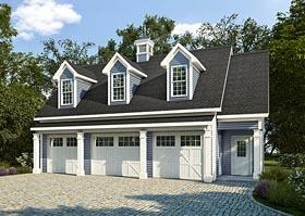 Garage-Living Plan 58248