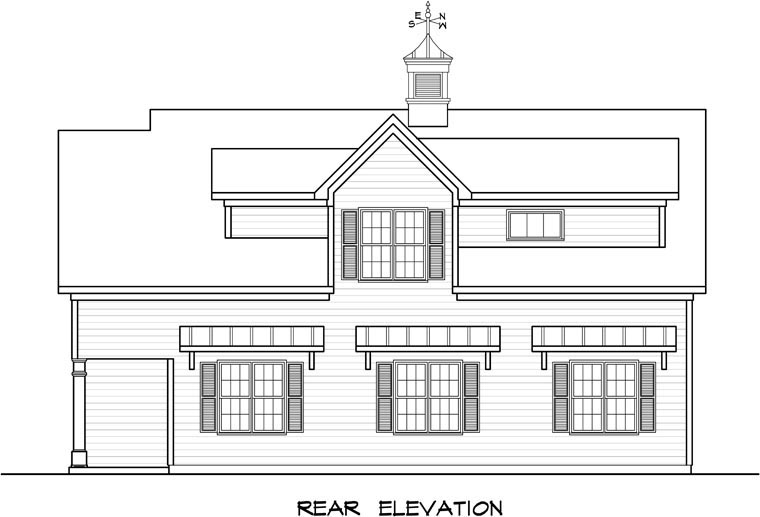 Garage Plan 58248 Rear Elevation