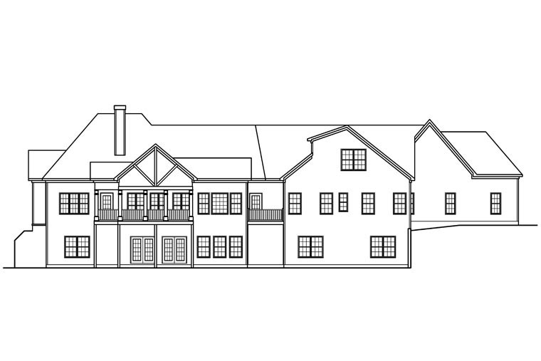 Craftsman Historic House Plan 58249 Rear Elevation