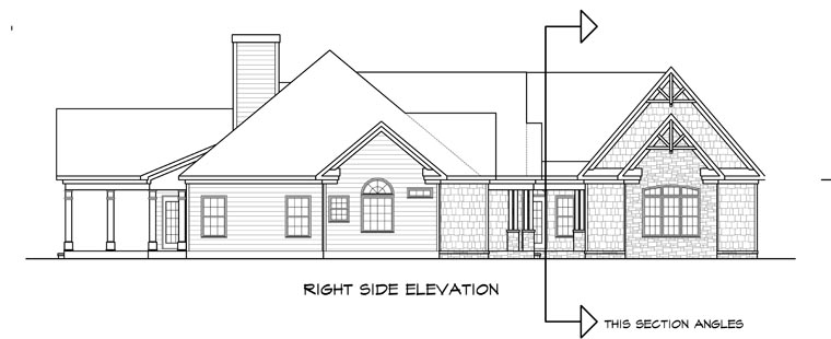 Craftsman, Traditional House Plan 58252 with 3 Beds, 4 Baths, 2 Car Garage Picture 2