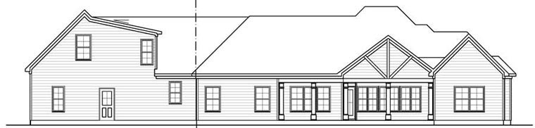 Craftsman House Plan 58254 Rear Elevation