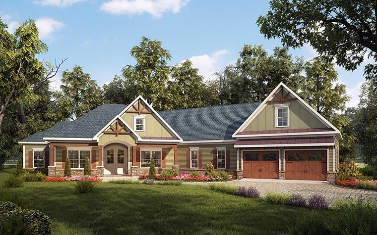 Craftsman House Plan 58255 Elevation
