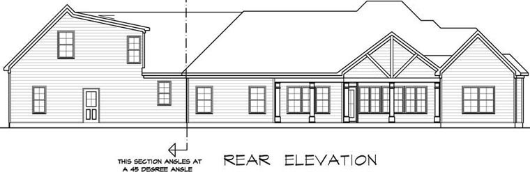 Craftsman House Plan 58255 Rear Elevation