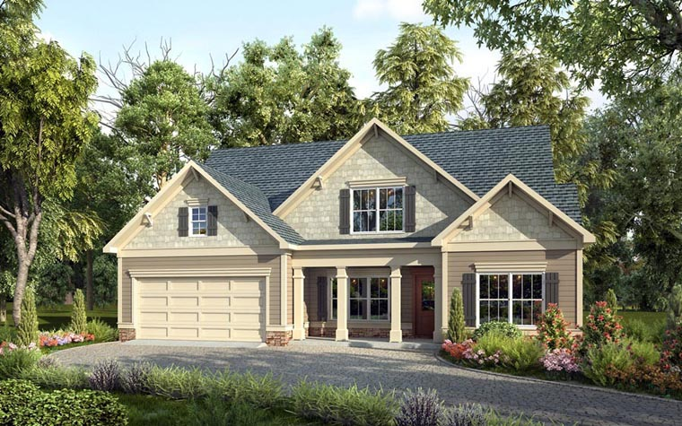 Craftsman Traditional House Plan 58259 Elevation