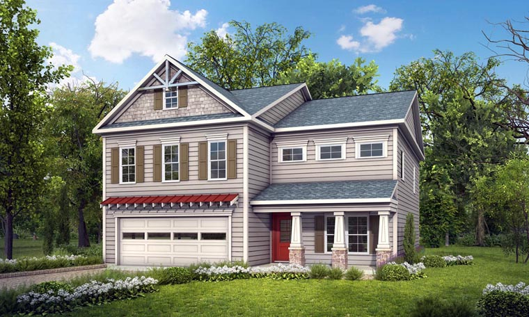 Craftsman Traditional House Plan 58264 Elevation