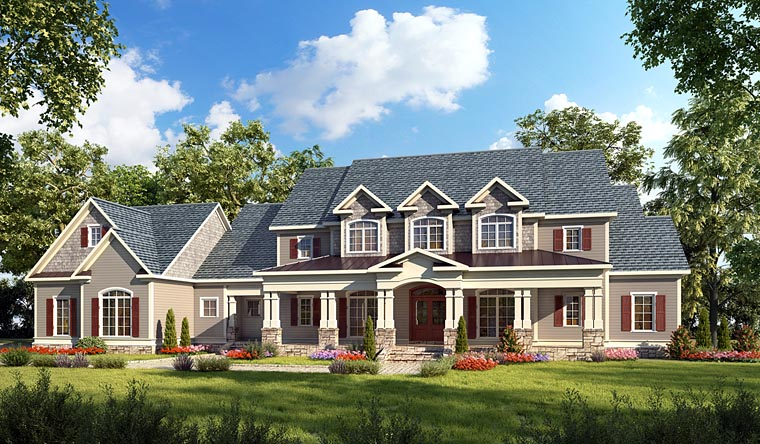 House Plan at FamilyHomePlans comCountry Craftsman Farmhouse Southern Traditional House Plan Elevation