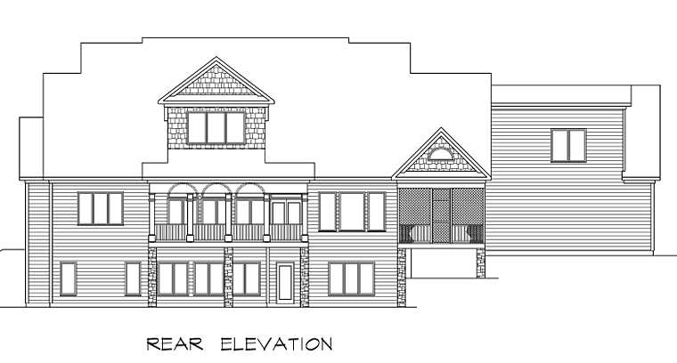 Country Craftsman Farmhouse Southern Traditional House Plan 58272 Rear Elevation