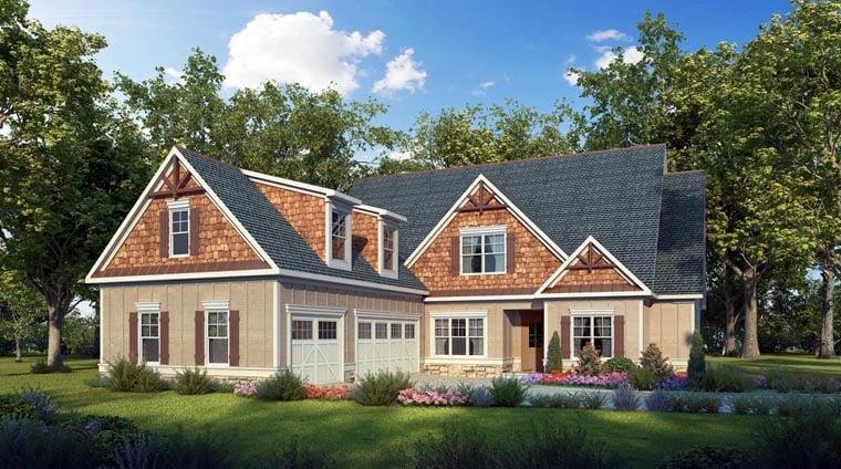 Craftsman Traditional House Plan 58277 Elevation
