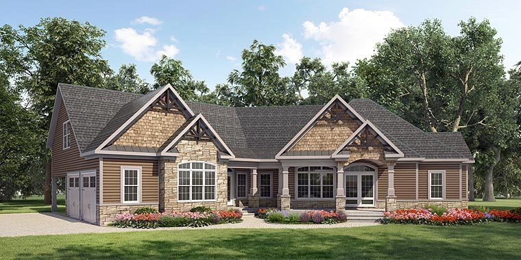 Craftsman House Plan 58280 Elevation