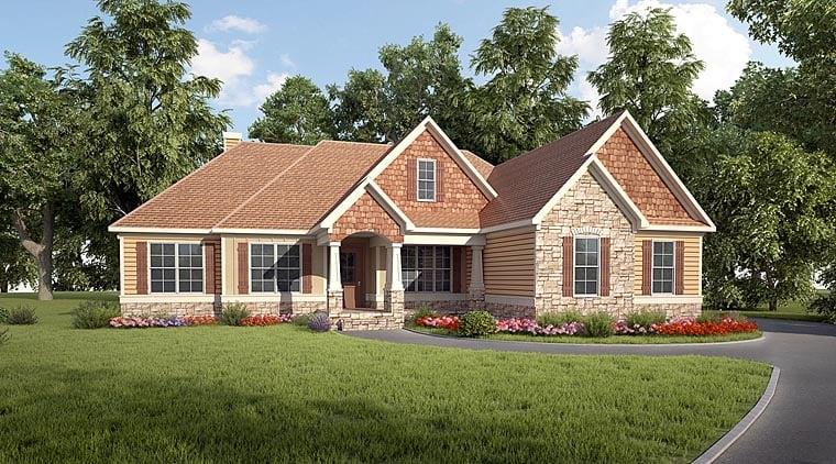 Craftsman House Plan 58283 Elevation