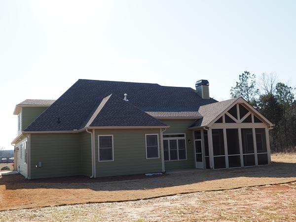Craftsman House Plan 58283 Rear Elevation