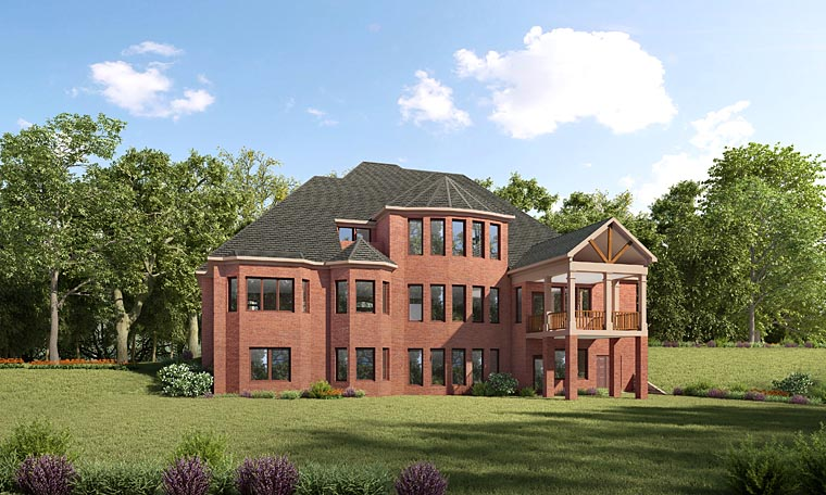 European Traditional House Plan 58289 Rear Elevation