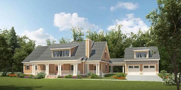 Contemporary, Country, Southern House Plan 58293 with 4 Beds, 5 Baths, 2 Car Garage Elevation