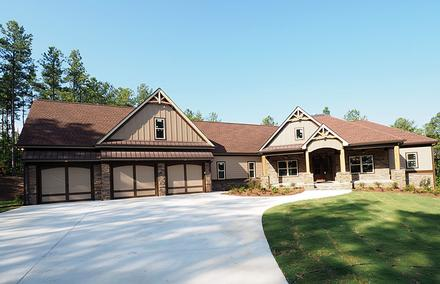 Cottage Country Craftsman Traditional Elevation of Plan 58299