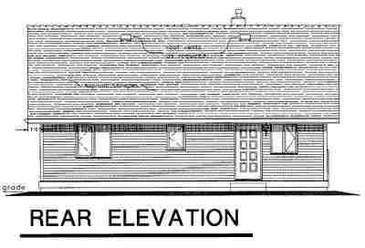 Ranch House Plan 58511 Rear Elevation