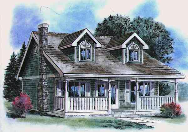 House plan 58514 at for Cape cod house numbers
