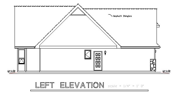 One-Story, Ranch House Plan 58527 with 2 Beds, 2 Baths, 2 Car Garage Picture 1