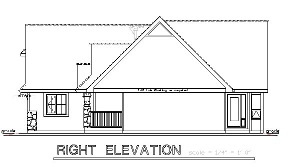 One-Story, Ranch House Plan 58527 with 2 Beds, 2 Baths, 2 Car Garage Picture 2