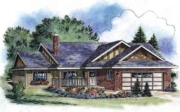 Tudor House Plan 58528 Elevation