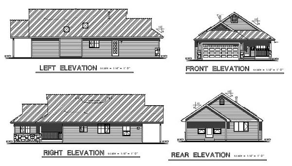 Ranch House Plan 58531 Rear Elevation