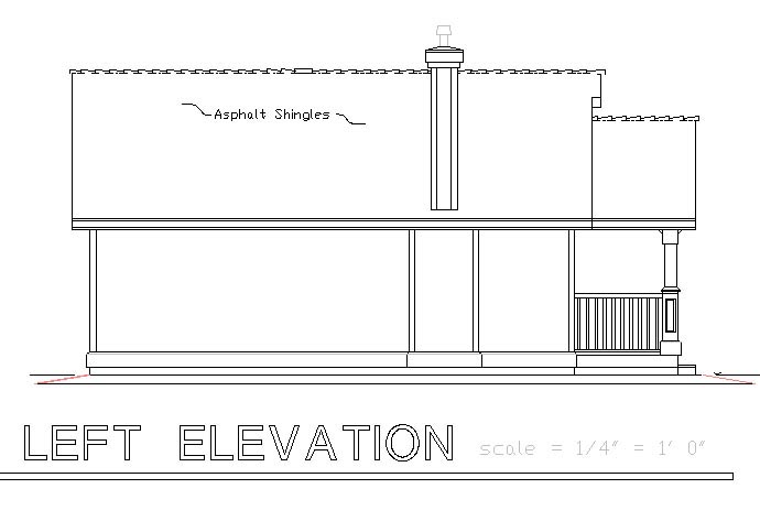 Craftsman, Narrow Lot, One-Story House Plan 58539 with 1 Beds, 1 Baths Picture 1