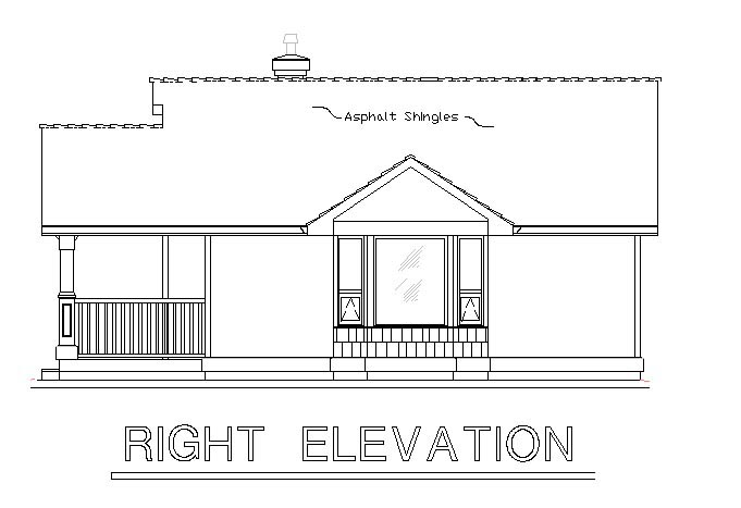 Craftsman, Narrow Lot, One-Story House Plan 58539 with 1 Beds, 1 Baths Picture 2