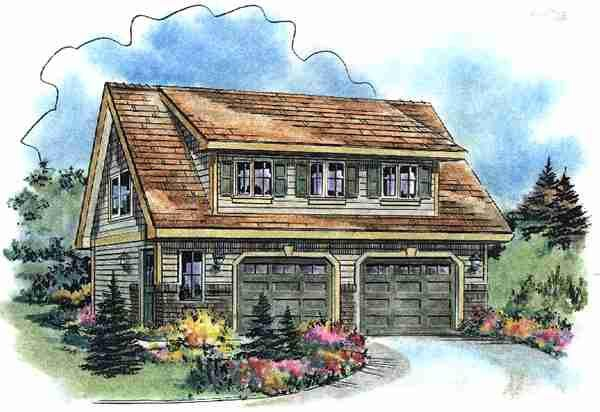 Craftsman Garage Plan 58541 Elevation