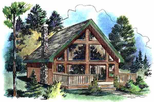 Contemporary House Plan 58544 Elevation