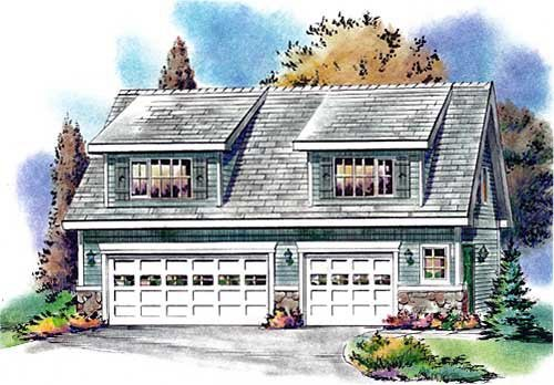 Garage plan 58557 for Country garage plans