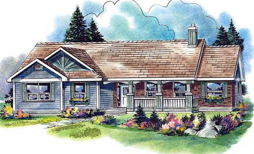 Country House Plan 58558 Elevation