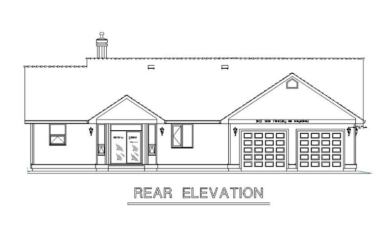 Country House Plan 58558 Rear Elevation