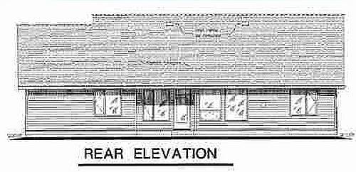 European House Plan 58560 Rear Elevation