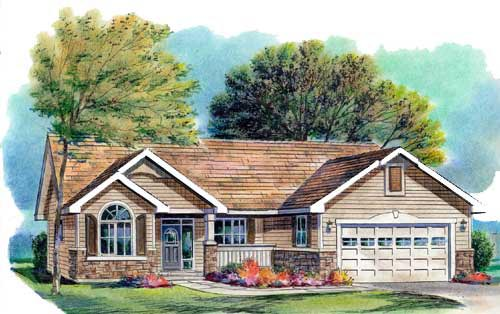 Traditional House Plan 58566 Elevation
