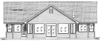 Traditional House Plan 58566 Rear Elevation