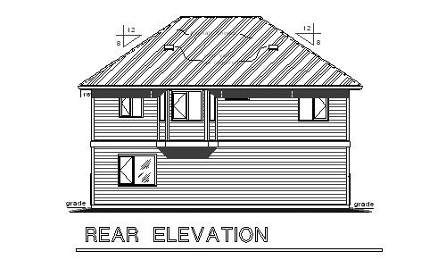 Traditional Garage Plan 58569 Rear Elevation