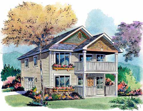Traditional House Plan 58570 Elevation