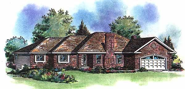 Traditional House Plan 58586 Elevation