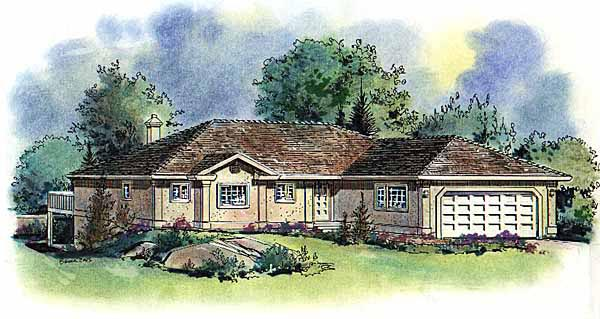 Florida House Plan 58588 Elevation