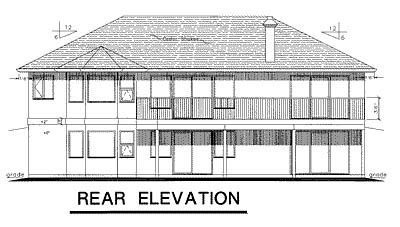 Florida House Plan 58588 Rear Elevation