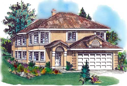 European House Plan 58673 Elevation