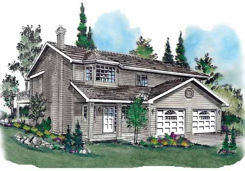 Traditional House Plan 58685 Elevation