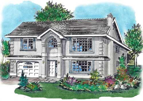 NarrowLot House Plan 58686