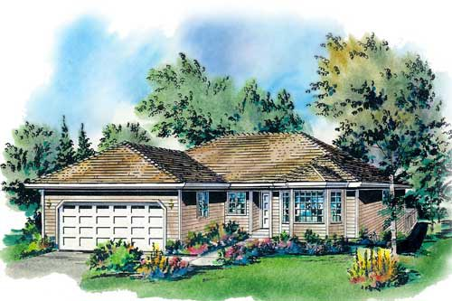 Ranch House Plan 58700 Elevation