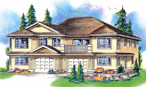 OneStory Multi-Family Plan 58764