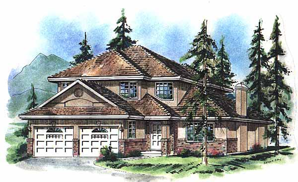 Contemporary House Plan 58766 Elevation