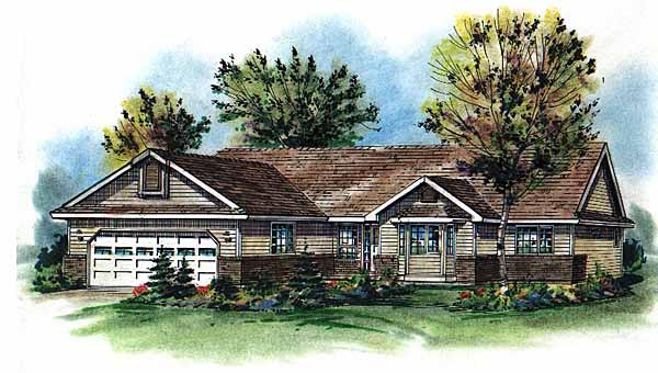 Ranch House Plan 58786 Elevation