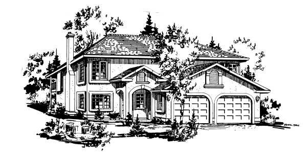 European House Plan 58877 Elevation